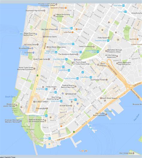 map of neighborhoods in new york city financial district neighborhood new york city map
