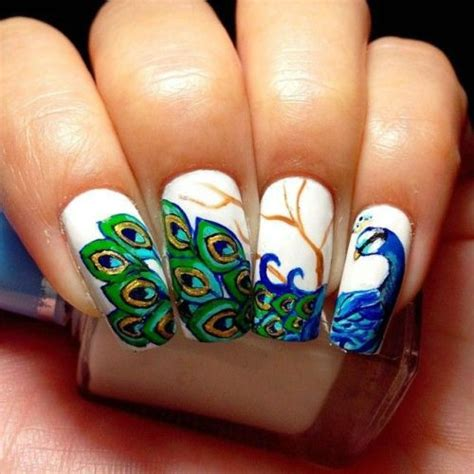 Fingernail Painting Ideas by Peacock Nail Painting Ideas Nationtrendz