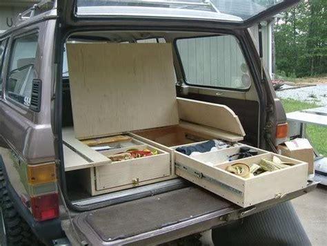 diy minivan cer diy sleeping platform and drawer system for minivan or jeep 4wd minivan drawers