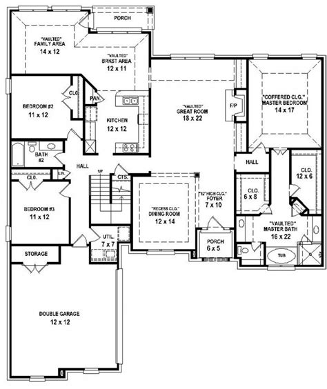 bedroom house plans with basement and small 4 floor