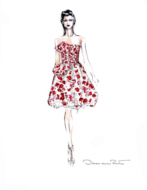 Sketches Fashion by Oscar De La Renta Fashion Sketches Fashionary A