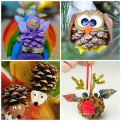 Easy Winter Craft For Kids - pine cone crafts for kids to make crafty morning