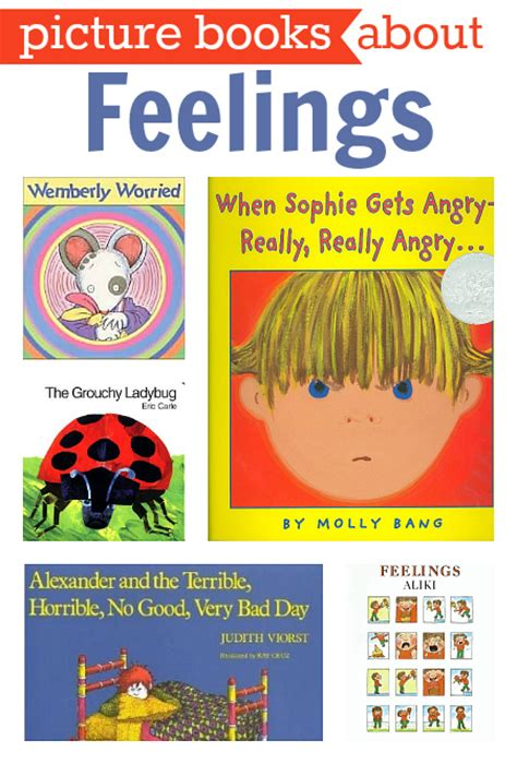 emotional themes in stories books about feelings no time for flash cards
