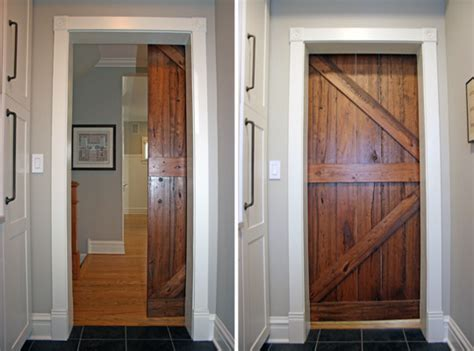 barn door pocket door sliding barn door modern laundry room chicago by