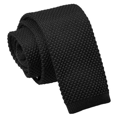 black knit tie black knitted tie