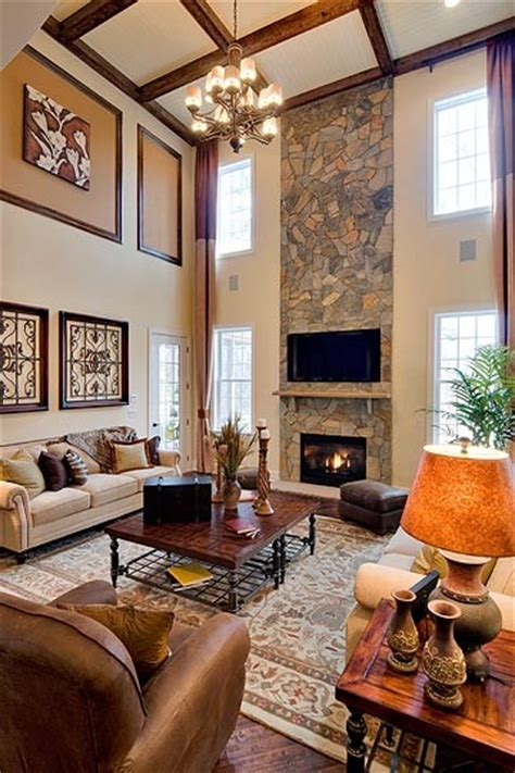Two Story Living Room Decorating Ideas by Family Room