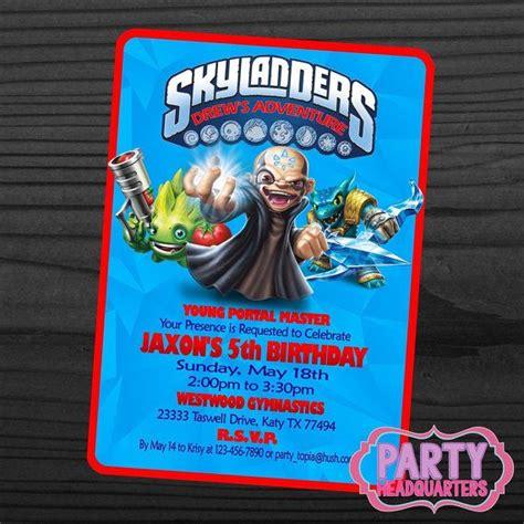 printable birthday cards skylanders 34 best images about skylander birthday on pinterest