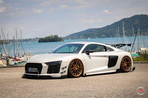 vossen felgen audi r8 audi r8 gets vossen lc2 c1 gold wheels and racing kit