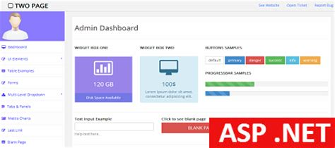 templates for asp net free free asp admin template for personal and commercial use