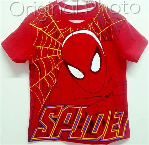 kaos spiderman  motif red   marvel grosir baju anak
