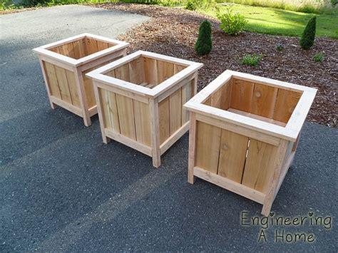 cedar planter box plans cedar planter boxes diy wooden