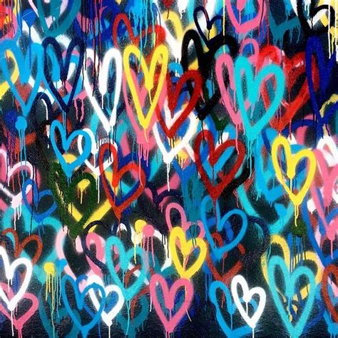 Bleeding Hearts Love Wall by James Goldcrown, NYC. # ... Graffiti Wallpaper Love Rainbow