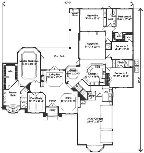 home plan homepw10890 4464 square foot 5 bedroom 4 mediterranean style house plan 4 beds 4 5 baths 4464 sq
