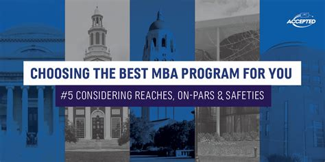 How To Choose The Right Mba Program by Which Mba Programs Are Within Your Reach Accepted