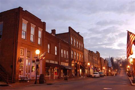 jonesborough tn downtown jonesborough  dawn photo