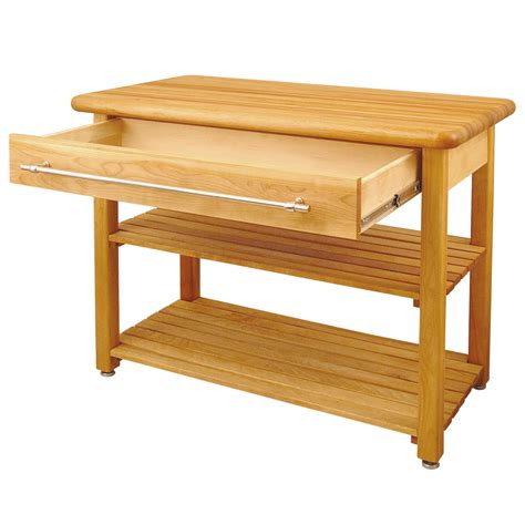 butcher block table catskill contemporary harvest butcher block tablx 1e