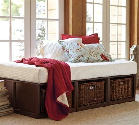 daybed with baskets stratton daybed with baskets tufted cushion set
