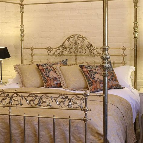 brass bed song all brass wide four poster bed with song bird castings