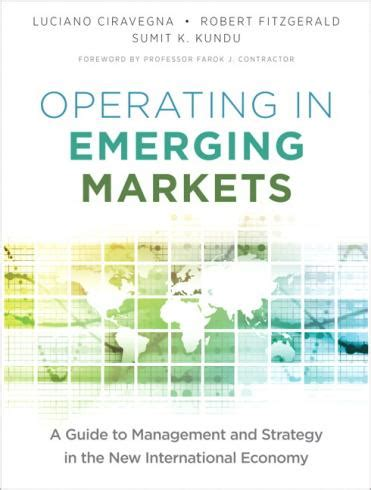 Mba In Emerging Markets by Robert Fitzgerald Mba Educaci 243 N Ejecutiva Mba