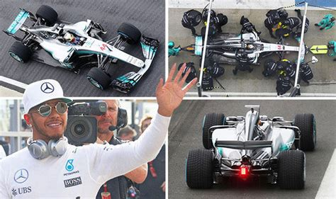 lewis hamilton shows off new mercedes f1 launch lewis hamilton shows w08 on laps