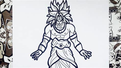 imagenes de broly para dibujar a lapiz como dibujar a broly how to draw broly como desenhar o