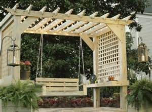 Pergola Swing Plans Free by Ana White Outdoor Bench With Arbor Diy Projects