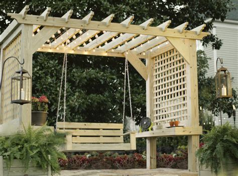 pergola with swing plans ana white outdoor bench with arbor diy projects