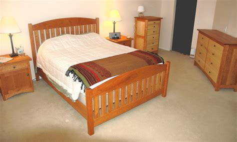 solid cherry and maple bedroom set boulder furniture arts