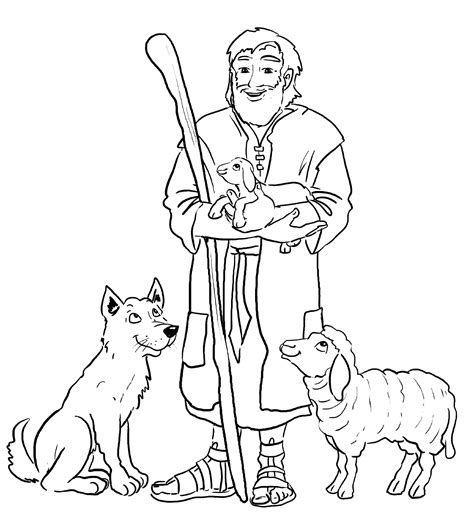 Hirte Colouring Pages sketch template