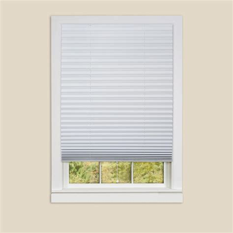 Pleated Shades For Windows Decor Redi Shade White Paper Light Filtering Pleated Shade 48 In W X 72 In L 4 Pack 1602359