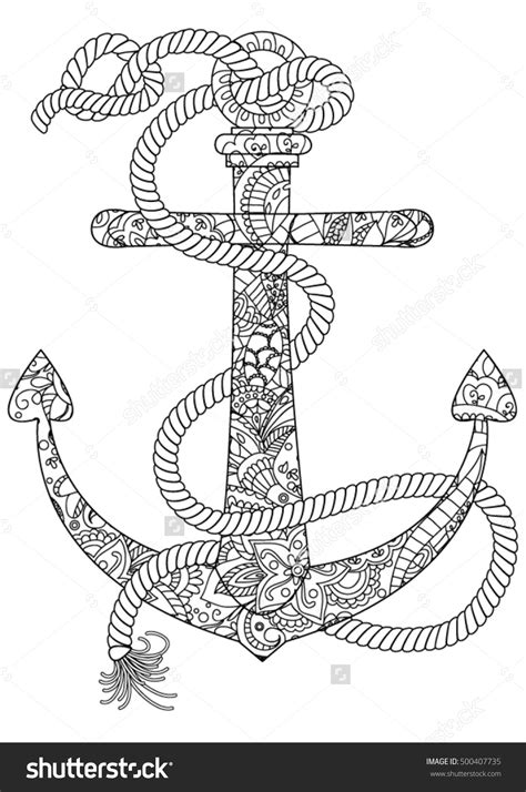 anchor coloring page best anchor coloring pages drawing big collection free