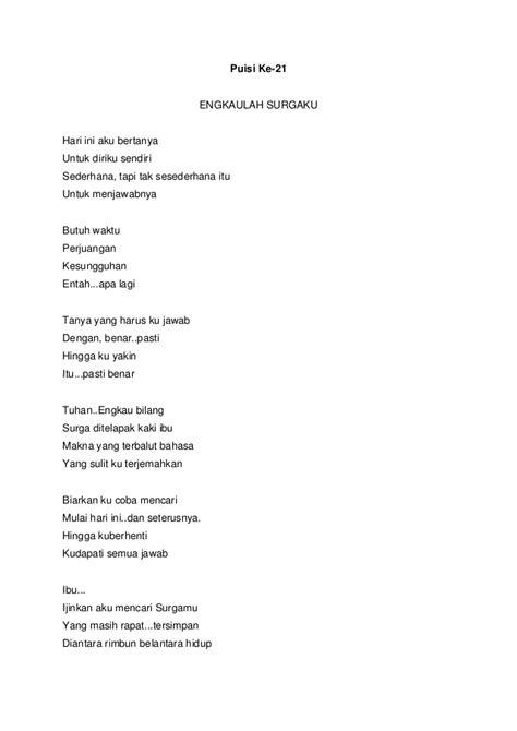 Yarusalem Setiap Aku Menicummu Puisi kumpulan 30 puisi tentang wanita