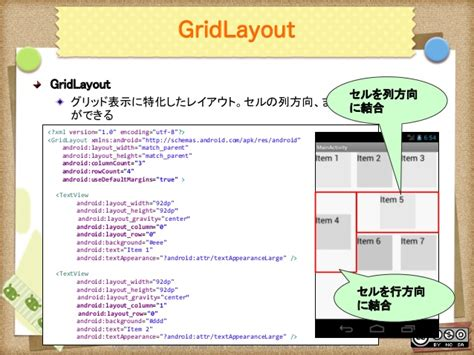 gridlayout match parent android uiデザイン入門
