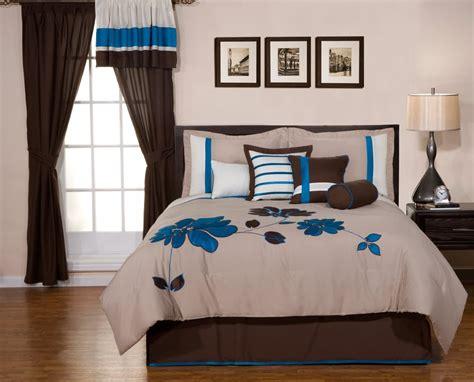 blue and brown comforter sets king 8 piece king oversize blue brown flower comforter king bed