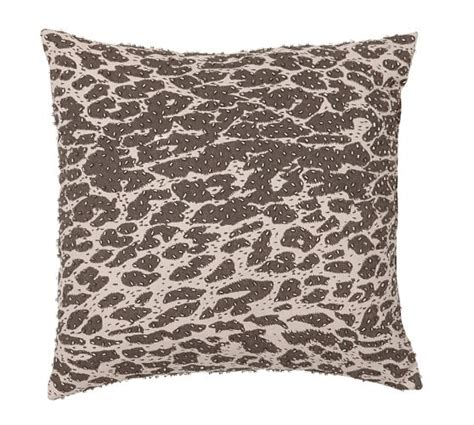 Leopard Rugs Pottery Barn by Leopard Beaded Dec Pillow Cover Pottery Barn