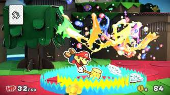 Paper mario color splash hits wii u this year vg247