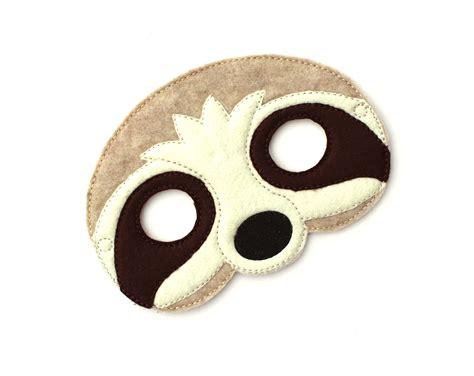 sloth mask template sloth mask sloth costume sloth mask felt mask