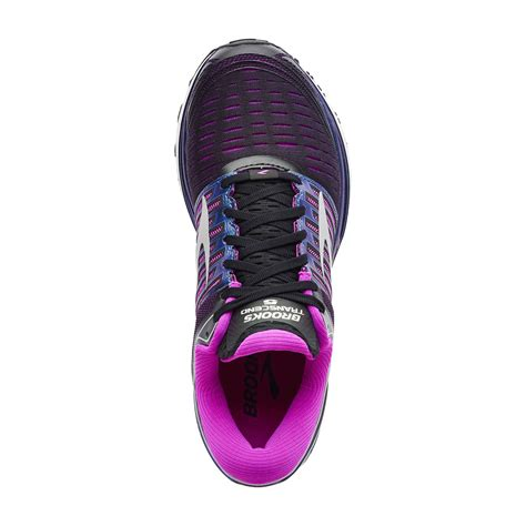 transcend 5 womens running shoes black purple