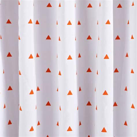 land of nod blackout curtains little prints orange triangle blackout curtains the land