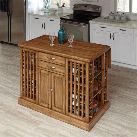 kitchen storage islands home styles vintner warm oak kitchen island with storage
