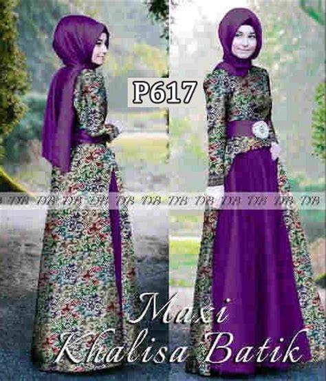 Baju Gamis Pesta Khalisa Batik P617   Baju Muslim Syari   Bajugamisku.com
