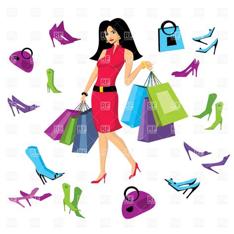 Queen Handbag by Pretty Woman In Footware Store With Shopping Bags 20304