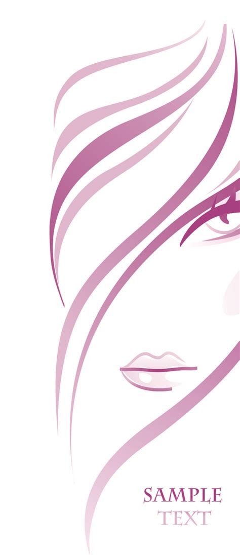 beauty layout vector hairdresser and beauty salon theme vector background 06