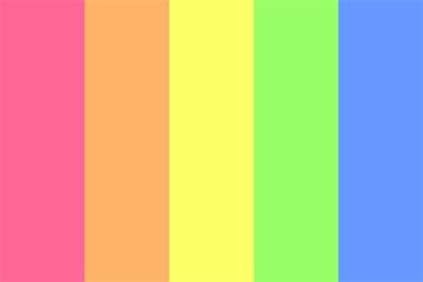 Light Bright Rainbow Color Palette Light Colors