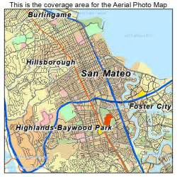 aerial photography map of san mateo ca california