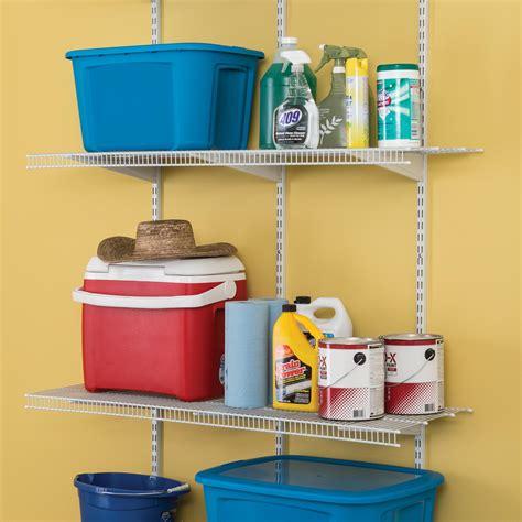 closetmaid utility closet closetmaid 52845 shelftrack adjustable utility