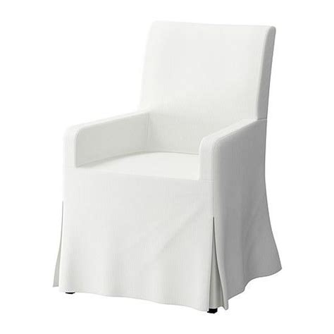 White Slipcover Dining Chair Ikea Chairs Upholstered Chairs Henriksdal Armchair