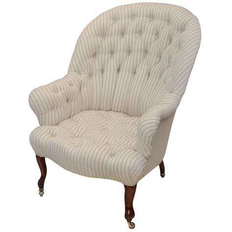 Tufted Armchair by Fr Napoleon Iii Arched Back Tufted Armchair At 1stdibs