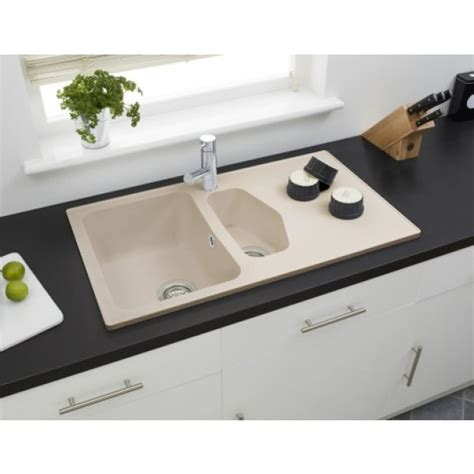 beige kitchen sinks astracast dart 1 5 bowl composite sink sahara beige