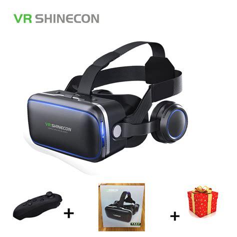 Termurah 3d Reality Glasses Vr Box Smartphone casque stereo shinecon vr box reality glasses 3 d 3d goggles headset helmet for